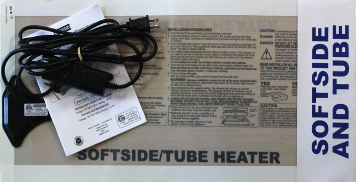 softside and tube waterbeds heater